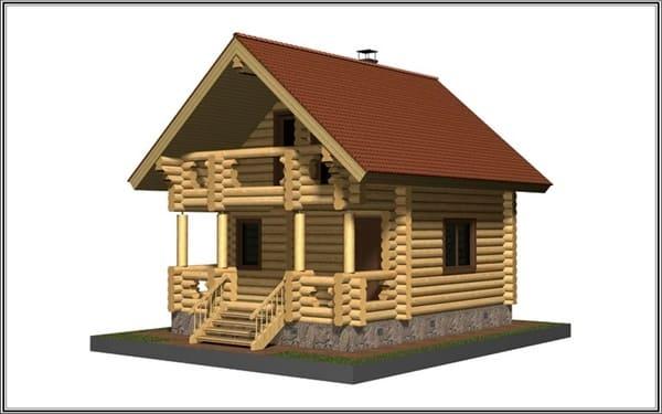 Проект дома из рубленного бревна